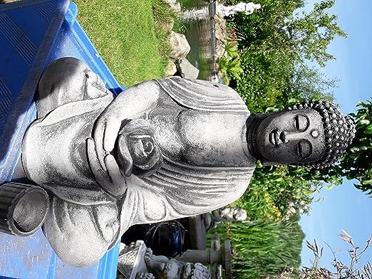 El Buda en el jardín - Buda Rama con lirio de agua del sostenedor de vela de 12 kg pesado Cast regalos de Navidad Piedra: Amazon.es: Jardín
