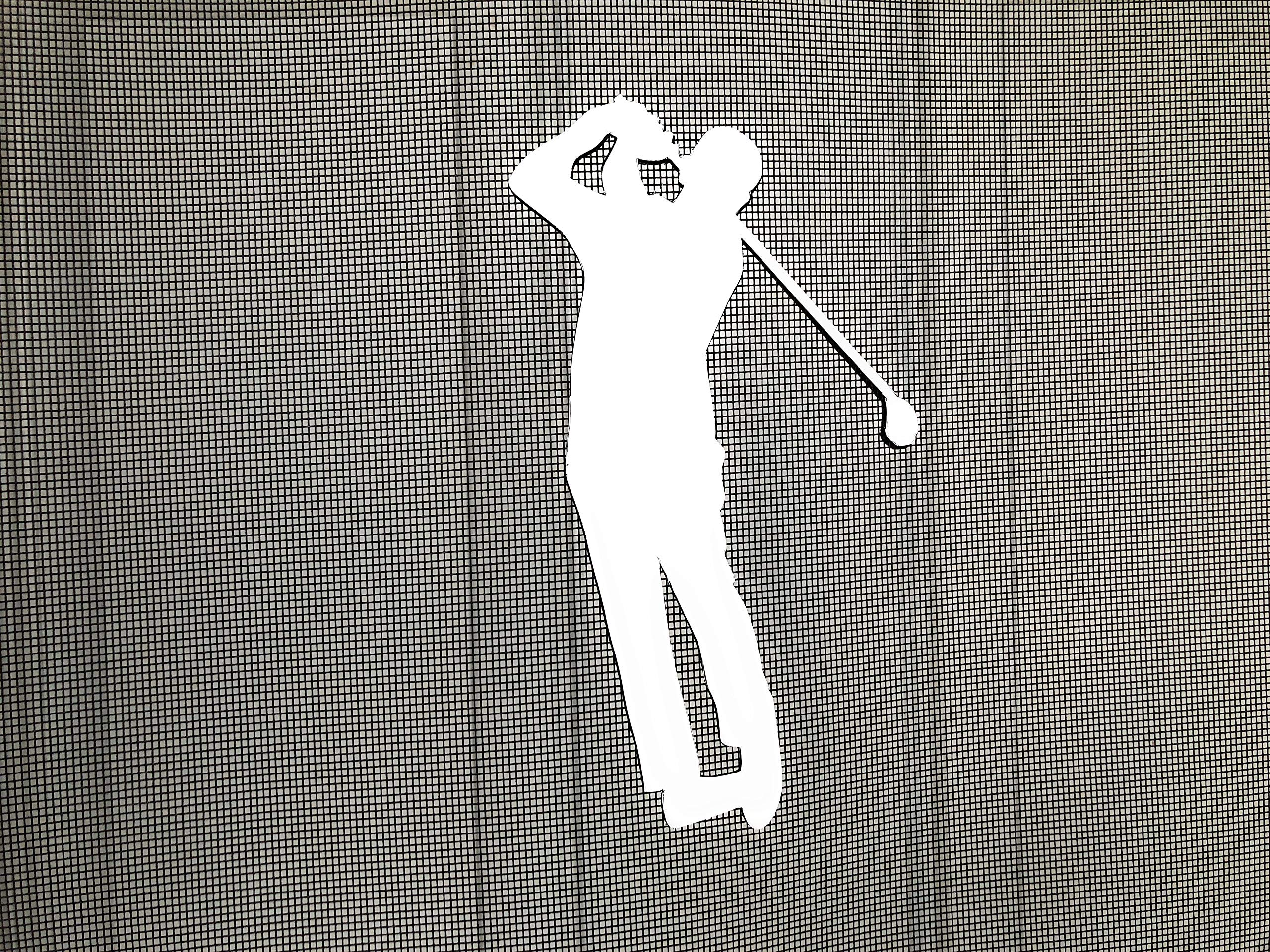 DCentral Male Golfer Screen Magnet Decor; Multipurpose, Double-Sided, Helps to Stop Walking into Screens, Covers Small tears in Screens, Decorates Screen Area. Set of Two Magnets. Size 4.5'' x 7.0''