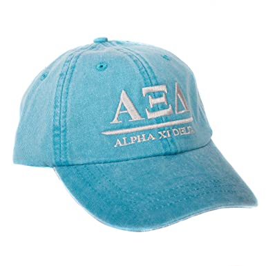 856fffd7a1a Alpha Xi Delta (B) Sorority Embroidered Baseball Hat Cap Cursive Name Font  Alpha zee