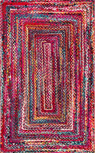 nuLOOM Hargis Labyrinth Area Rug, 8 x 10 , Red