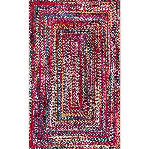 nuLOOM Hargis Labyrinth Area Rug, 5 x 8 , Red