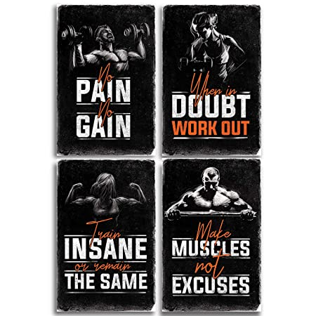 Throwback Traits Bodybuilding Posters With Motivational Quotes