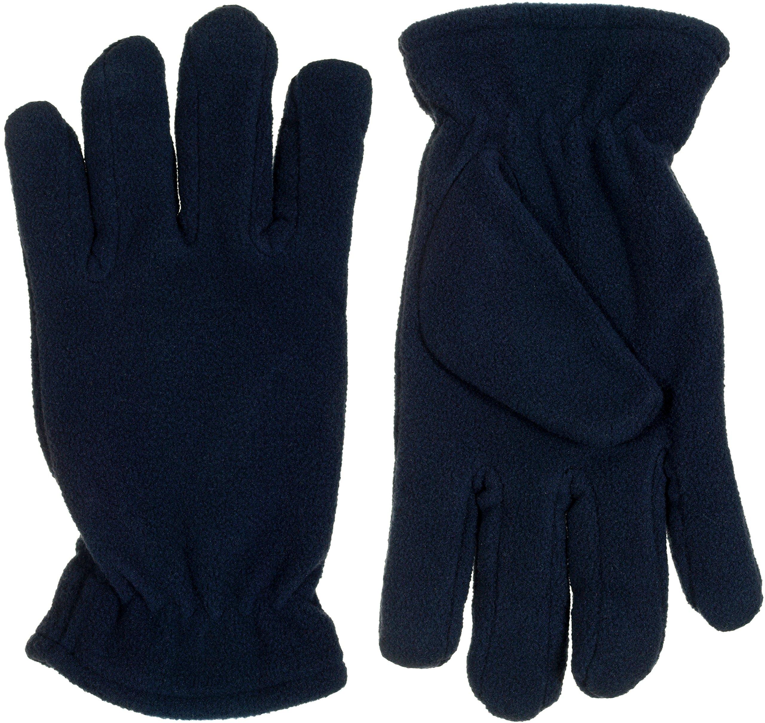 Grand Sierra Girls Fleece Cold Weather Gloves w/Fleece Lining (Large,Navy Blue)
