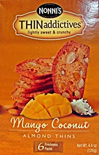 product image for Nonni's Thin Addictives Mango Coconut Almond Thins 6 pkgs ( 3 Pack)
