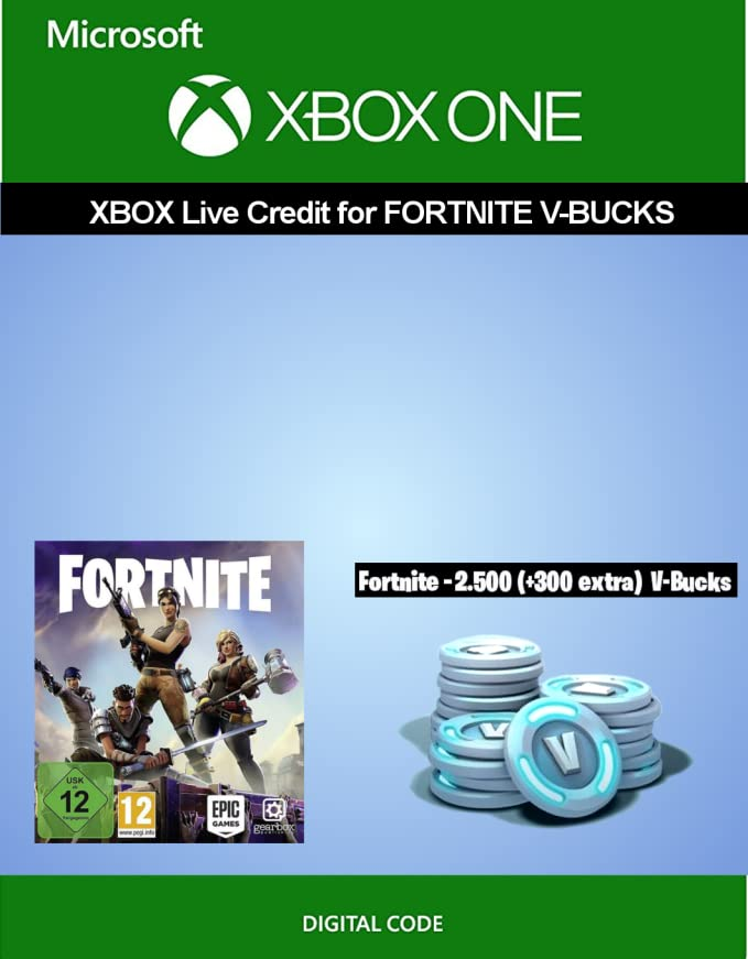 Xbox Live credit for Fortnite - 2 500 V-Bucks + 300 extra V-Bucks