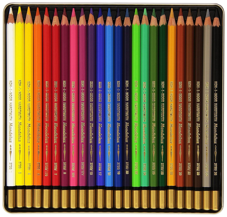 Amazon.com : Koh I Noor Mondeluz 24 Aquarelle Coloured Pencils. 3724 :  Office Products