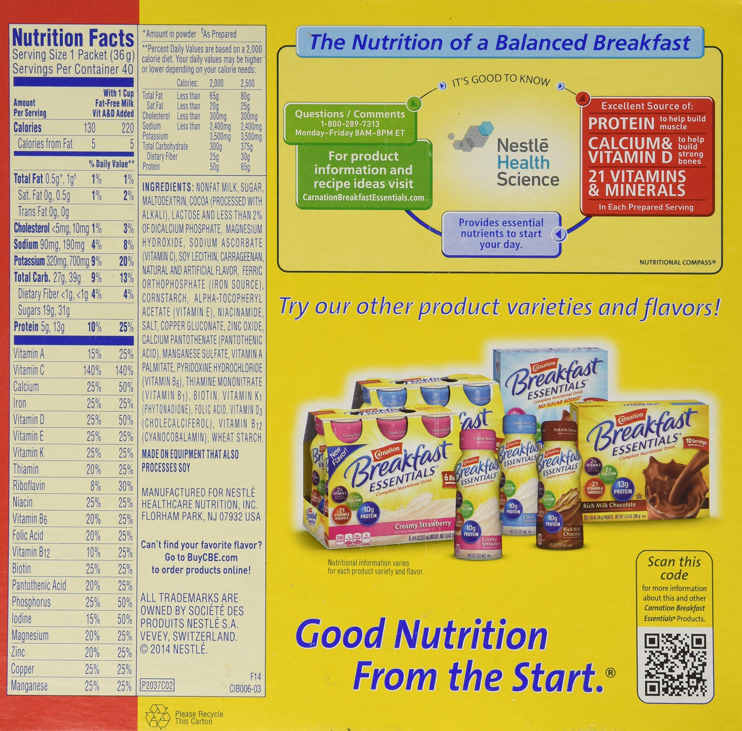 Carnation Breakfast Essentials 40-1.26oz Packets - Rich Milk Chocolate by Carnation (Image #2)