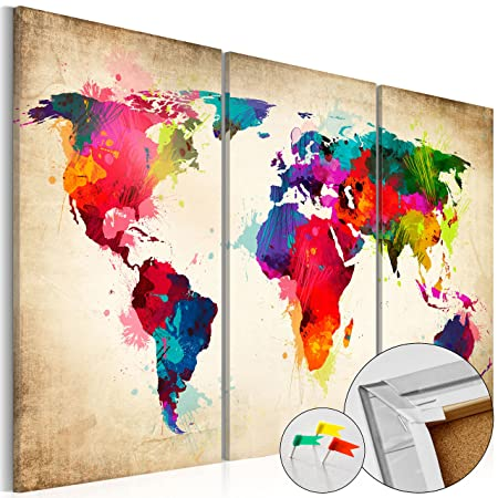 Murando pinboard map 90x60 cm 354 by 236 in image printed murando pinboard map 90x60 cm 354 by 236 in image printed gumiabroncs Image collections