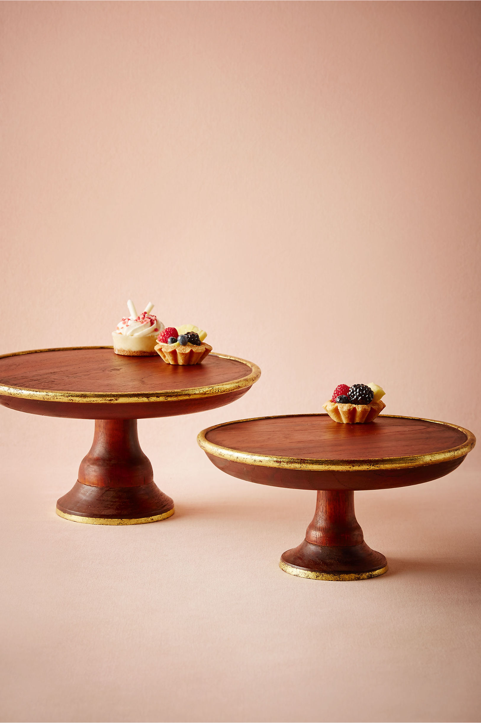 Gilded Wood Cake Stand in Sale Just Added at BHLDN