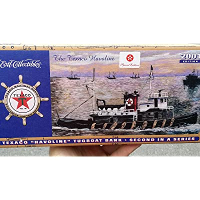 "2001 TEXACO Havoline TUGBOAT ""SPECIAL CHROME EDITION"" #2 in Series - Operates in Port Arthur Texas - Diecast Metal: Toys & Games"