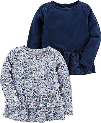 Simple Joys by Carters Toddler Girls 4-Piece Playwear Set Black//Pink//Grey 2T
