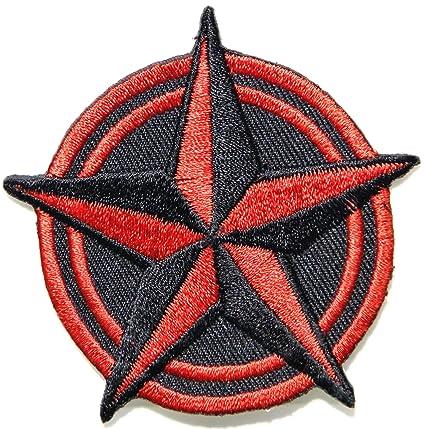 Amazoncom Red Black Nautical Star Us Navy Militry Army Logo Tatoo