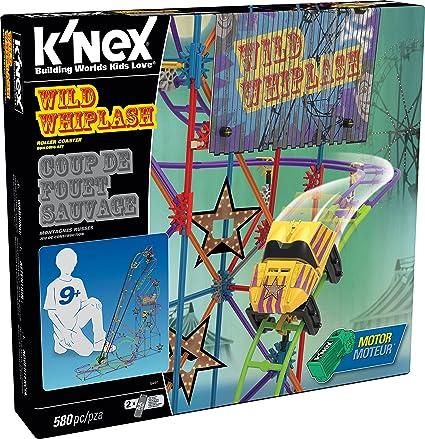 KNEX WILD WHIPLASH ROLLER COASTER 580 PIECES NEW