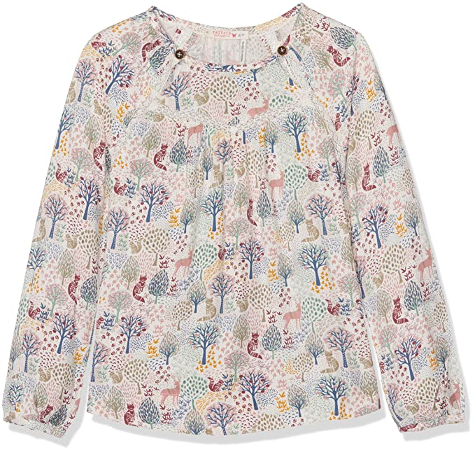 Fat Face Woodland, Blusa para Niñas, Blanco (Ecru Nat), 6-