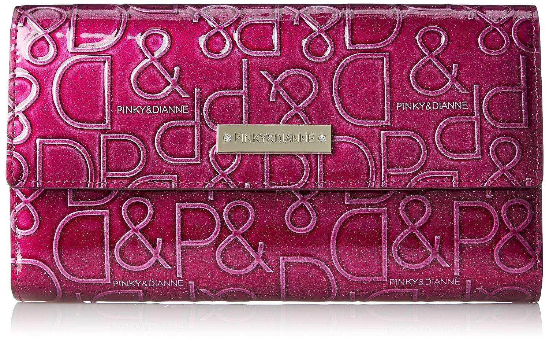 [ピンキーアンドダイアン] 長財布 【ドルチェ】 エナメル ロゴ型押し PDLW7GT1 B072SY6H2D  ボルドー