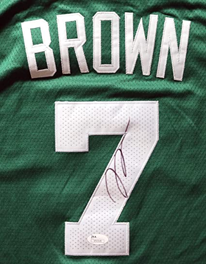 newest e4961 91adc Jaylen Brown Boston Celtics Signed Autographed Green #7 ...