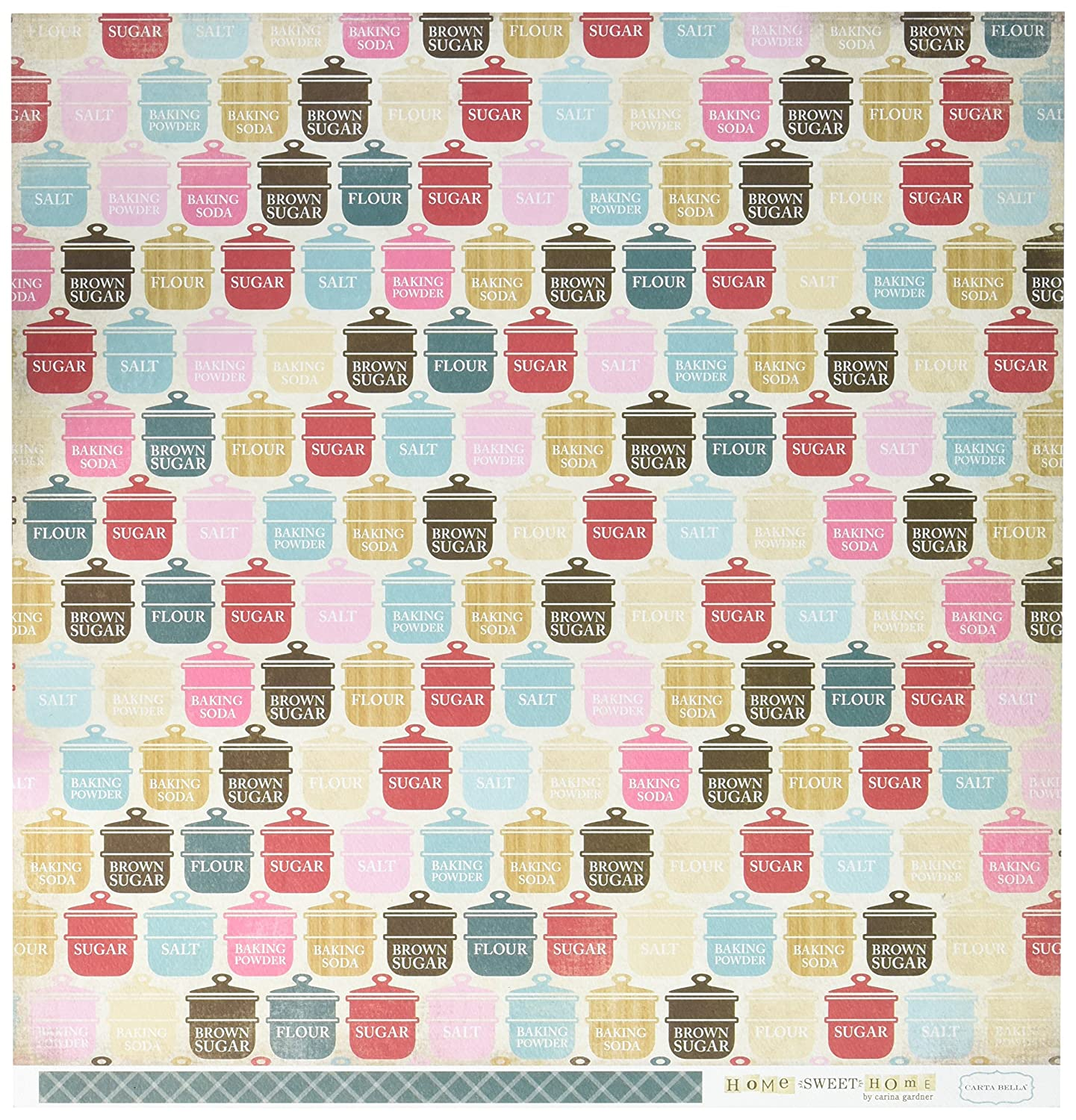 Echo Park Paper CBHSH47007 Home Sweet Home Double-Sided Cardstock (25 Sheets Per Pack), 12 x 12, Baking Ingredients, Assorted by Echo Park Paper B017GKAIS0