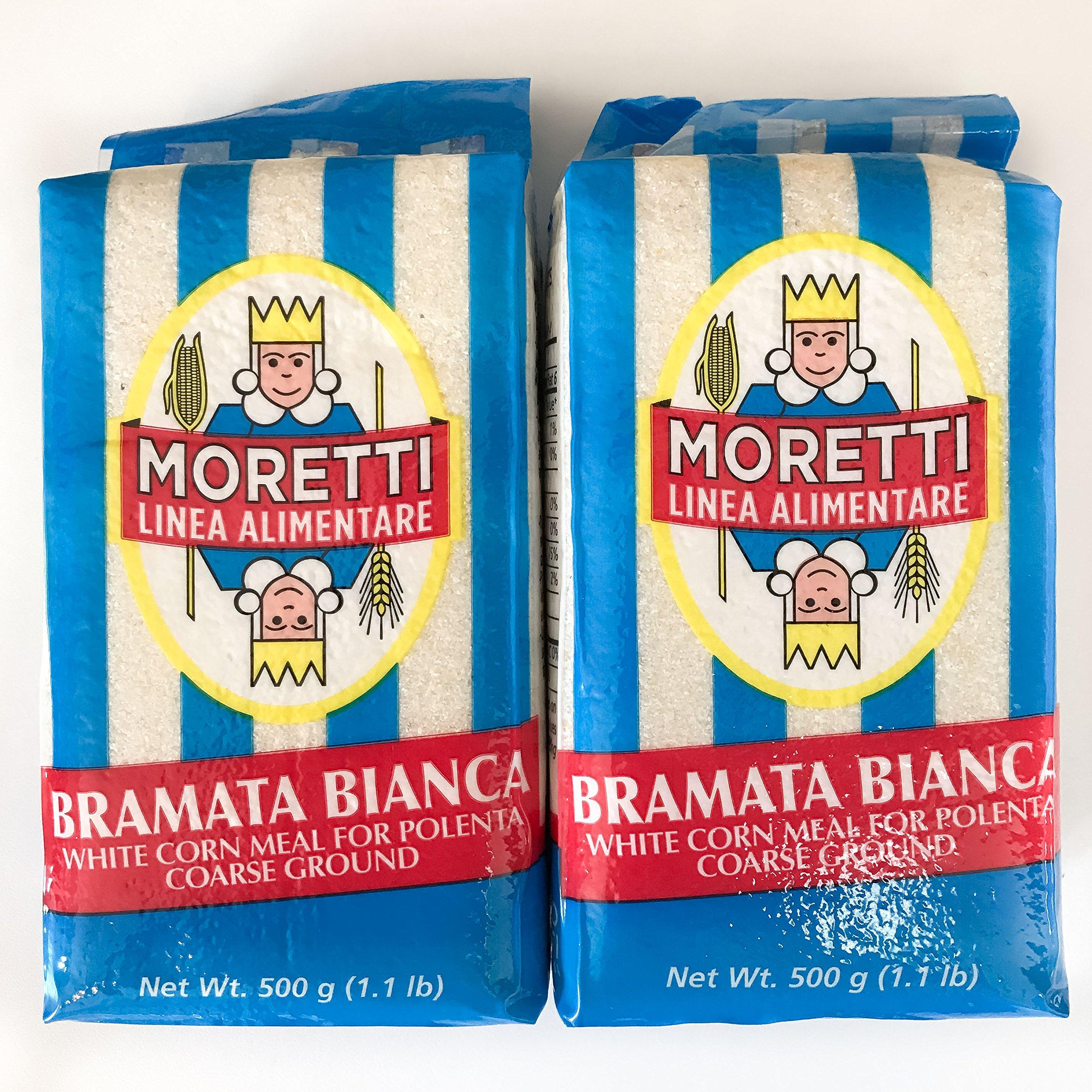 Moretti Bramata Bianca Polenta - Coarse white - 1.1 lb - 2 Pack
