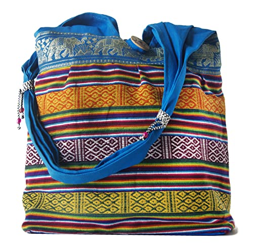 d19d5433514a Amazon.com  HANDMADE COTTON CLOTH HANDBAG SHOULDER TOTE BAG FOR GIRL WOMEN  (BLUE)  Shoes