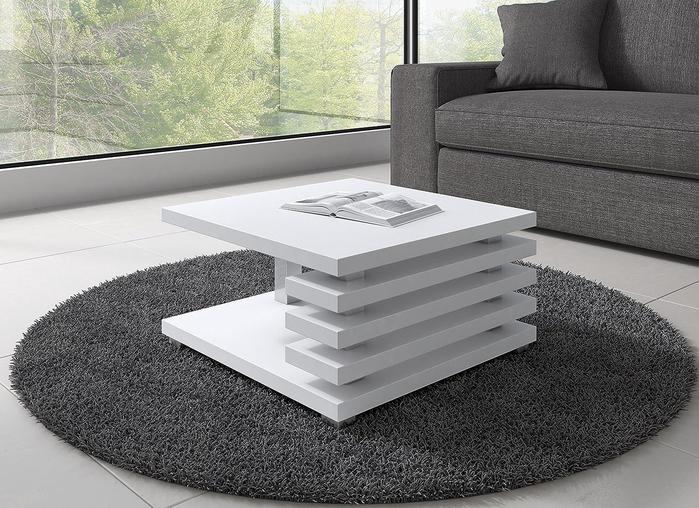 Tavolino da salotto Oslo 60 x 60 cm (Bianco Opaco): Amazon.it ...