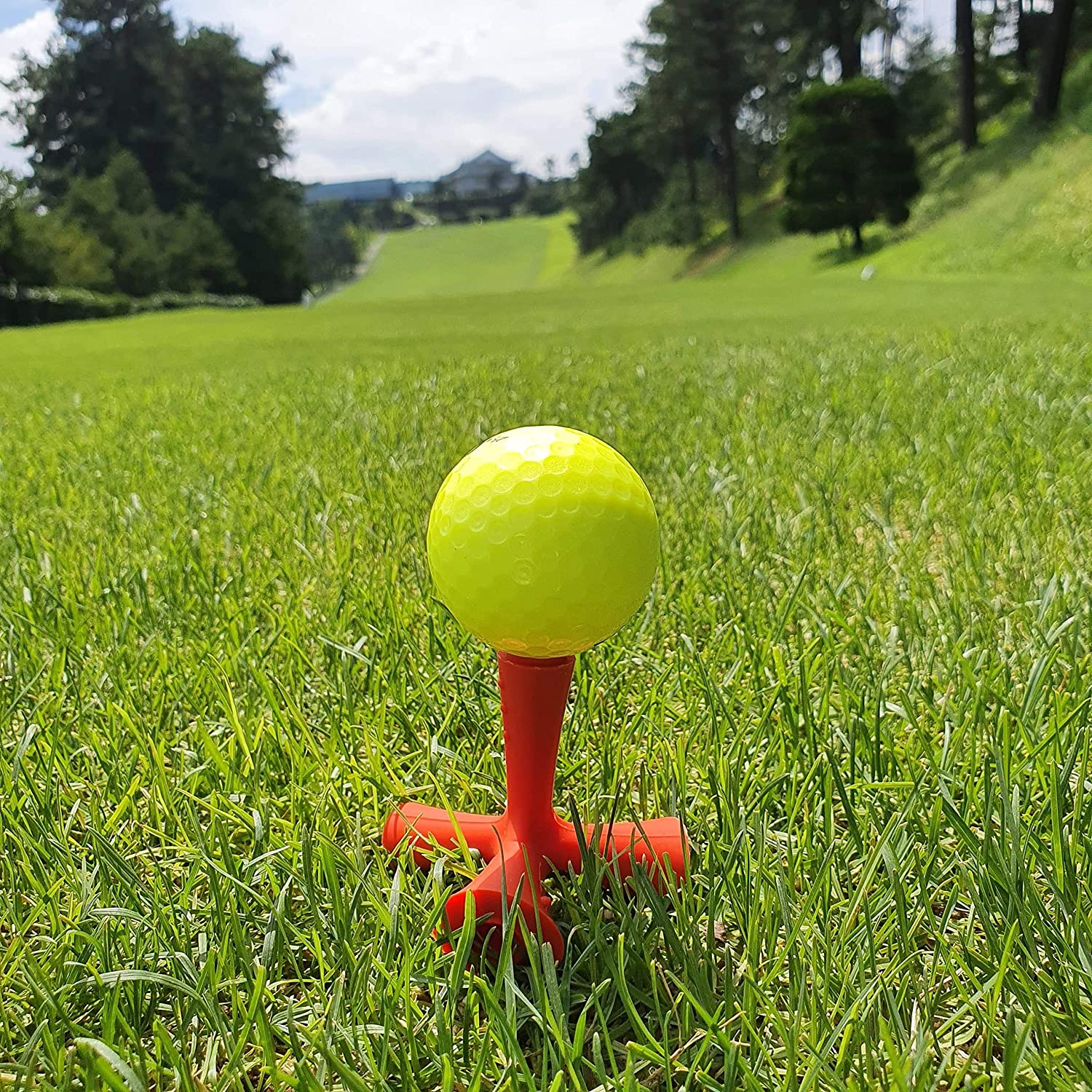 OctoTee Golf Tee, Flexible Tripod Colorful Rubber Golf Tee
