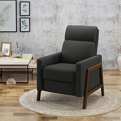 Amazon.com: Chris Mid Century moderno tela sillón reclinable ...