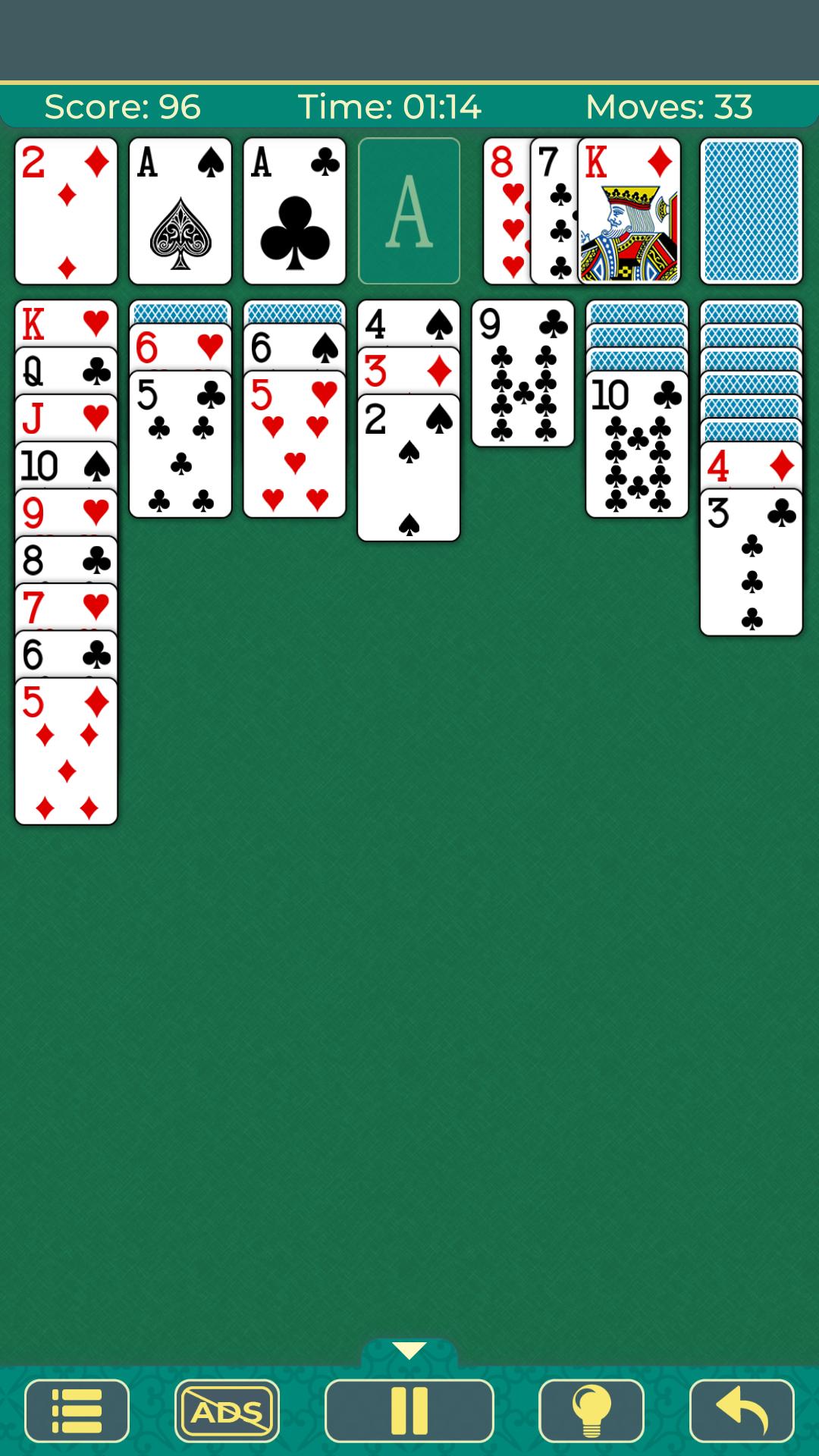 Klondike Solitaire. Clásico juego gratuito de cartas y