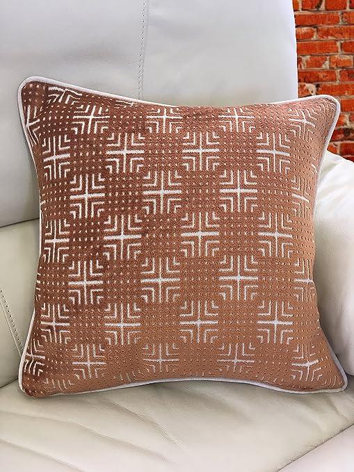 Azteca estampada fundas de cojín incluye relleno de cojín (algodón y poliéster relleno Pad, Amber, Polycotton Inner Cushion Pad: Amazon.es: Hogar