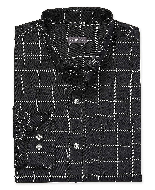 Van Heusen Mens Big and Tall Wrinkle Free Poplin Long Sleeve Button Down Shirt