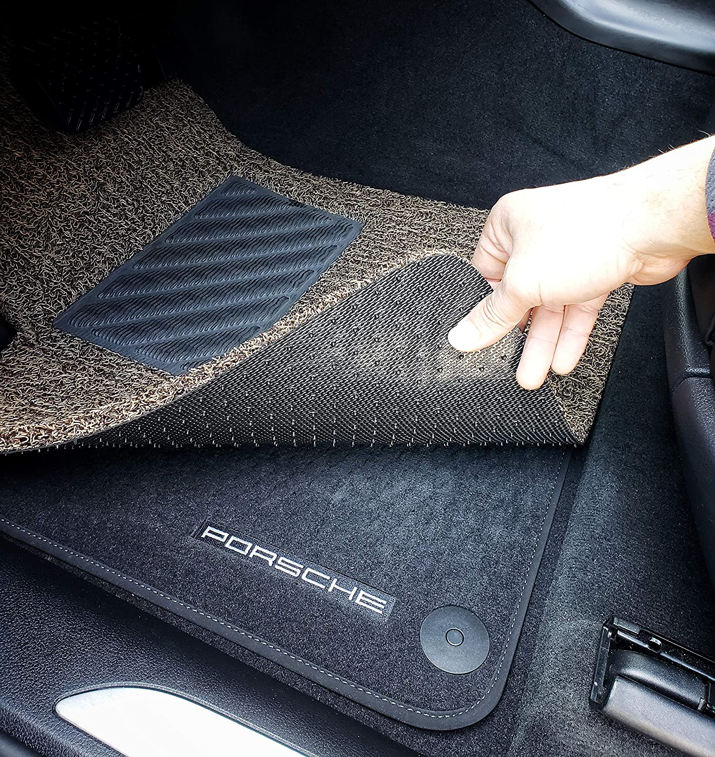 Beige and Brown Autotech Zone Custom Fit Heavy Duty Custom Fit Car Floor Mat for 2010-2014 Subaru Outback Wagon All Weather Protector 4 Piece Set
