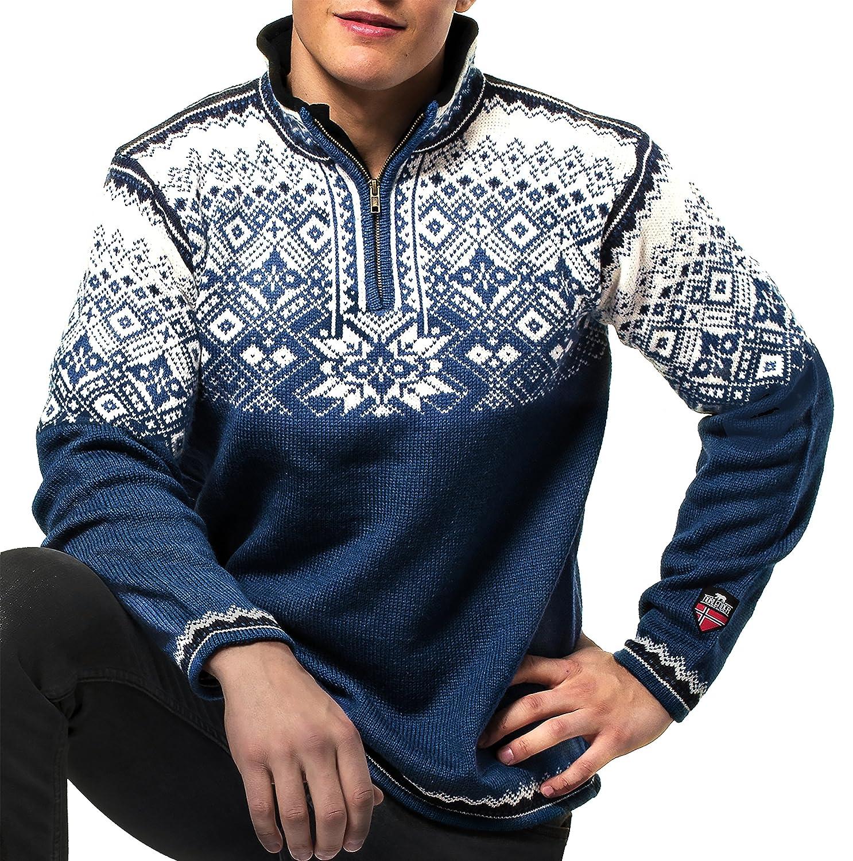 Amazon.com: Norlender Mens Norwegian Wool Narvik Pullover ...
