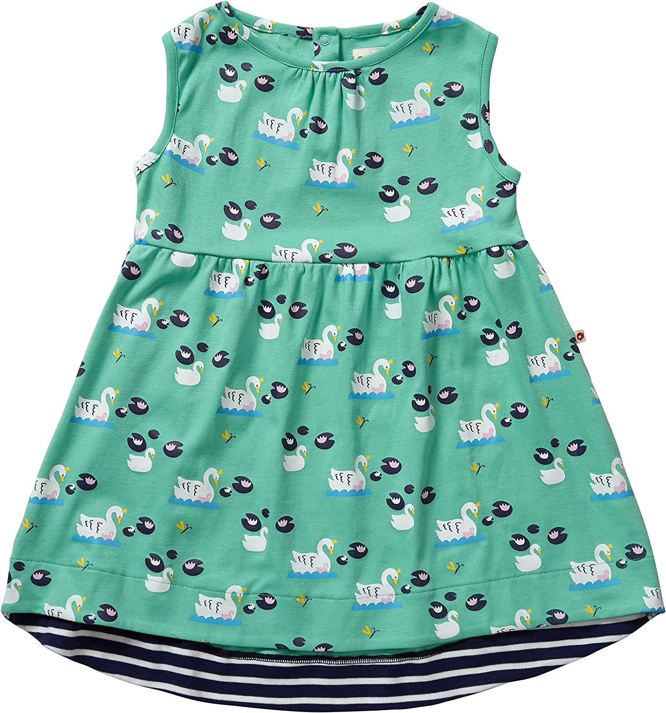 Piccalilly, Vestido, Jersey de algodón orgánico, niñas, Cisne ...