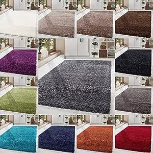 HomebyHome Shaggy Hoogpolig langpolig tapijt voor woonkamer, met Oeke Tex gecertificeerd, 14 kleuren en 17 maten