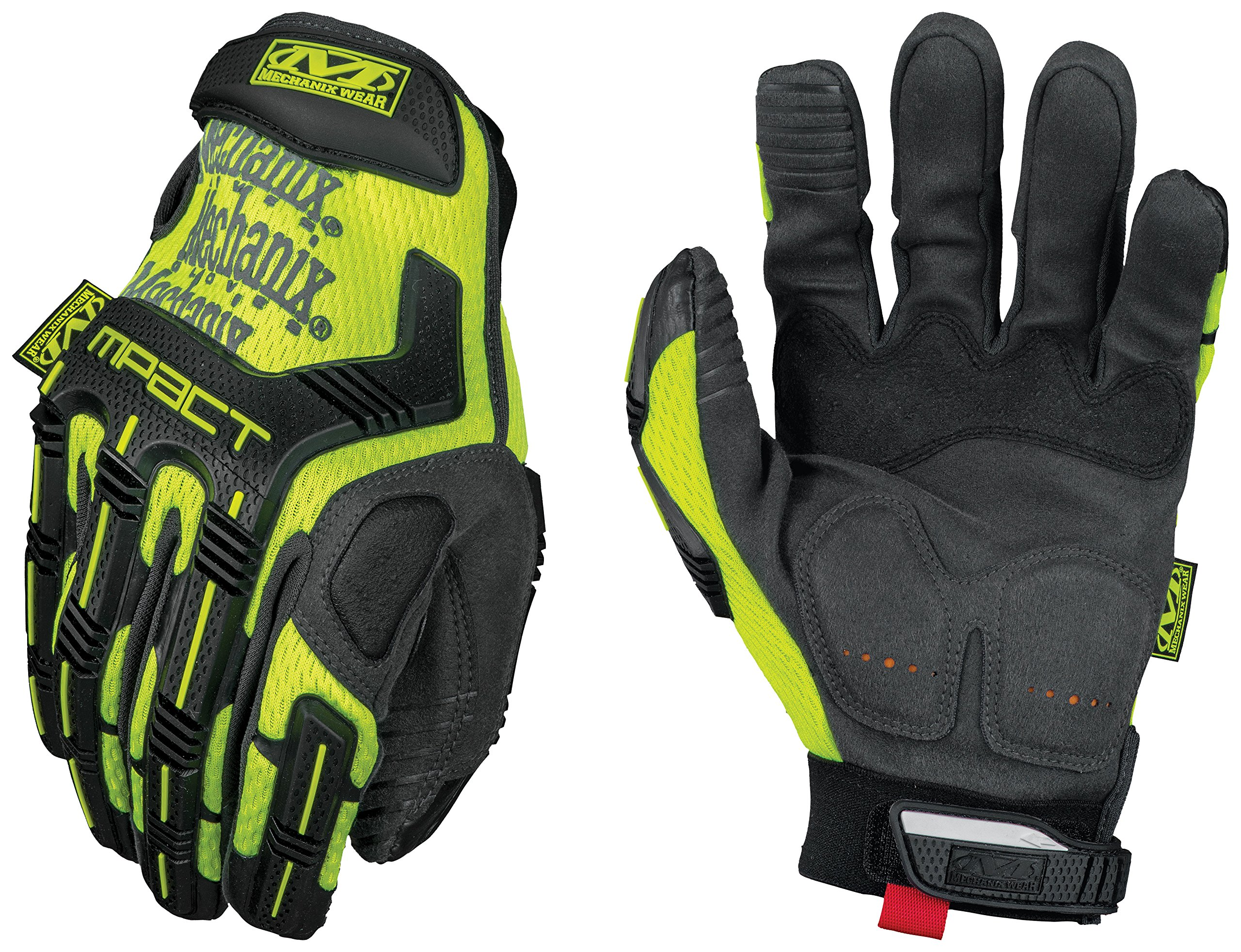 Mechanix Wear - Hi-Viz M-Pact XD Gloves (Large, Fluorescent Yellow)