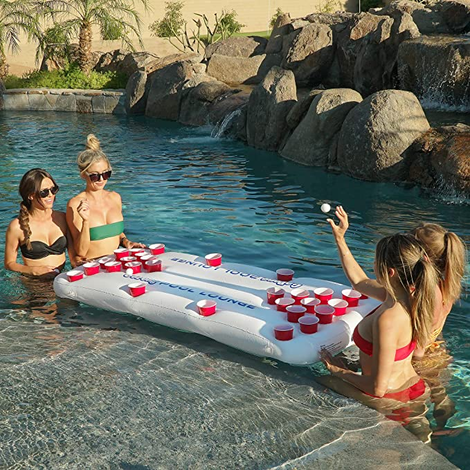 Amazon.com: GoPong Inflable para piscina de beer-pong ...