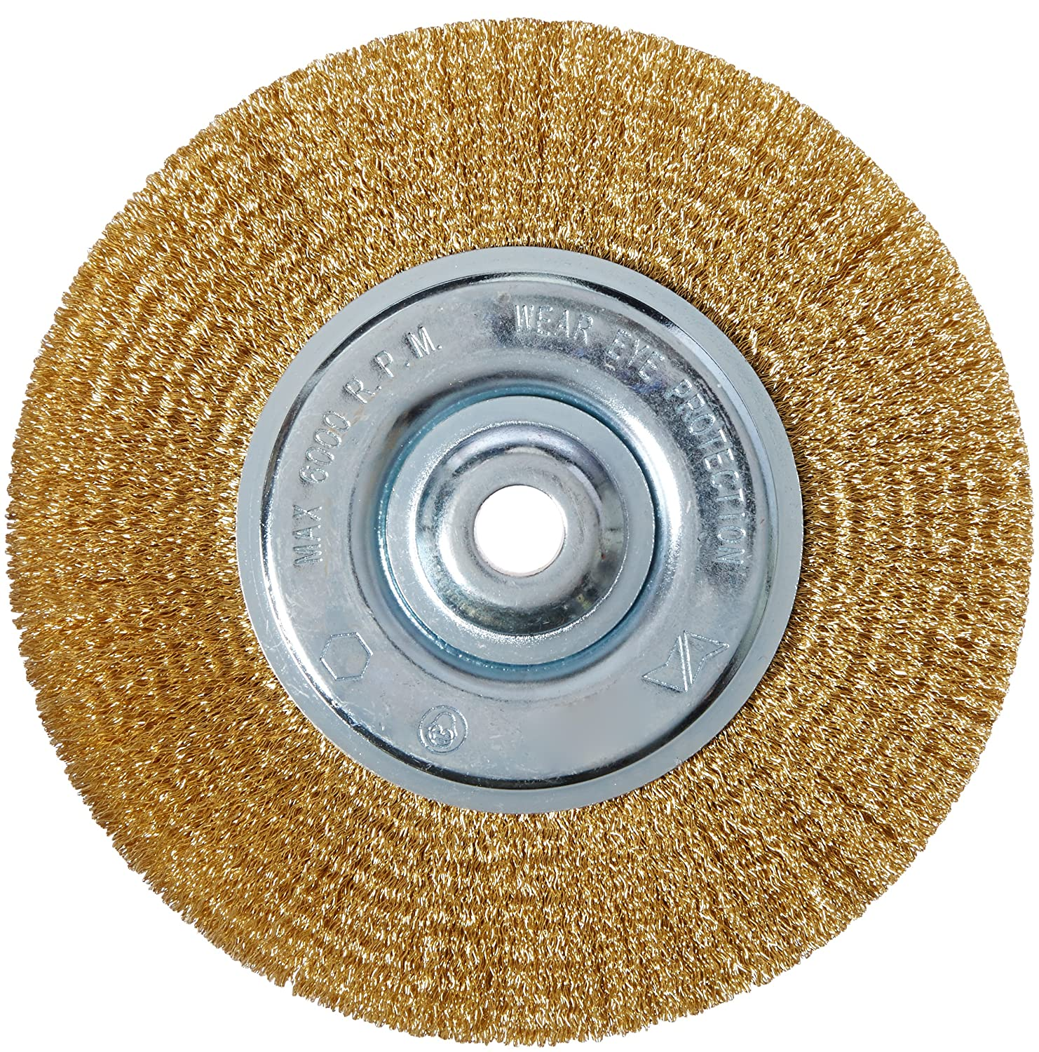 Vermont American 16802 6-Inch Fine Brass Wire Wheel Brush with 1/4-Inch Hex Shank for Drill