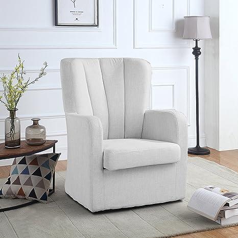 Amazon.com: Moderno sillón giratorio, asiento giratorio para ...