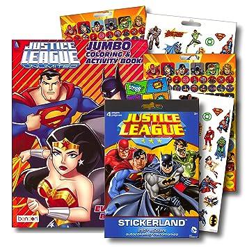 Amazoncom Liga De La Justicia Libro Para Colorear Bundle