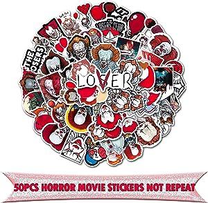 50pcs Stephen King's It Movie Sticker Pack for DIY Scrapbooking Album Luggage Laptop Skateboard Phone Notebook Decoration