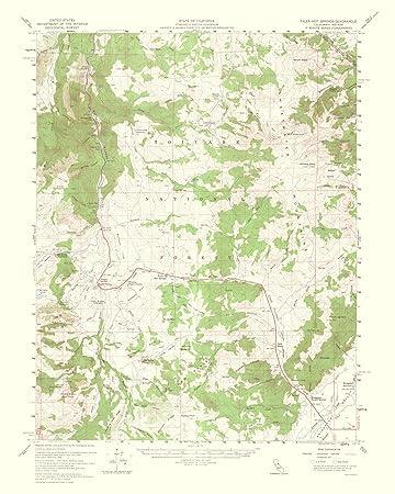 Amazon.com: Topographical Map - Fales Hot Springs California Quad ...
