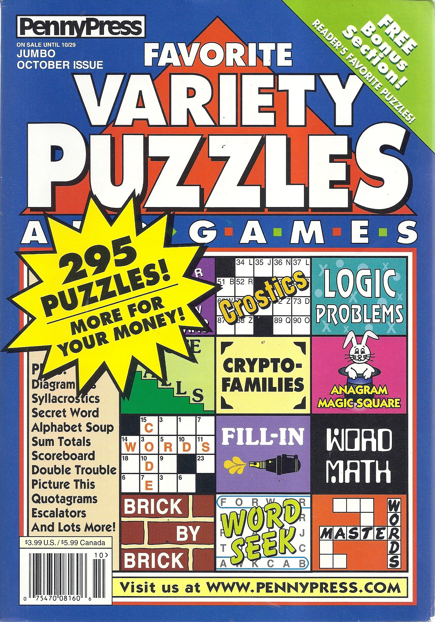 Download Favorite Variety Puzzles and Games Magazine (October 2002 - Jumbo Issue) PDF