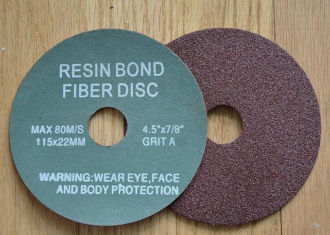 """100 Pack 4.5/"""" Ceramic Resin Fiber Disc 60 Grit 4-1//2/"""" Grinding /& Sanding Discs"""