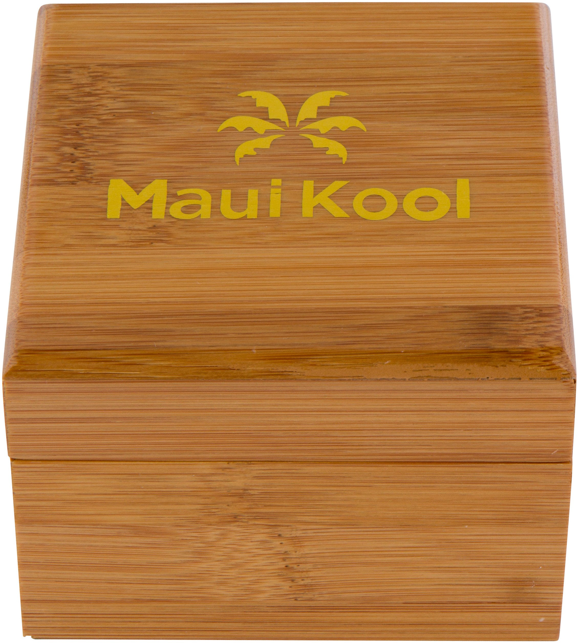 Wooden Watch For Men Maui Kool Kaanapali Collection Analog Large Face Wood Watch Bamboo Gift Box (C6 - Green Face) by Maui Kool (Image #4)