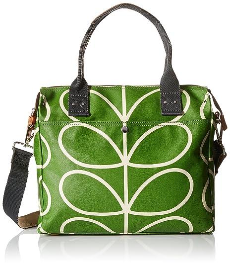 7f58c3536c Orla Kiely Womens Stem Print Zip Messenger Top-Handle Bag Apple ...