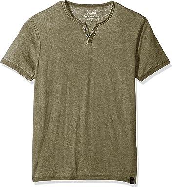 39609da38 Lucky Brand Men's Burnout Notch Neck Tee