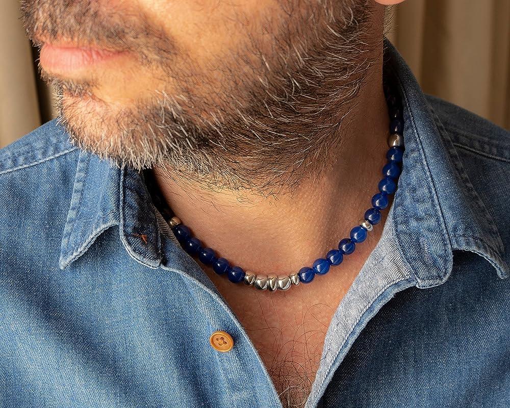 Men Geometric Necklace Men Gift Guys  Gift Men Jewelry Men Choker Necklace Men Leather Necklace Boyfriend Gift Men Necklace