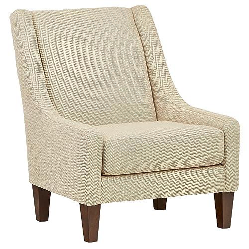 Stone Beam St. Cloud Modern Armless Accent Chair, 32 W, Tan