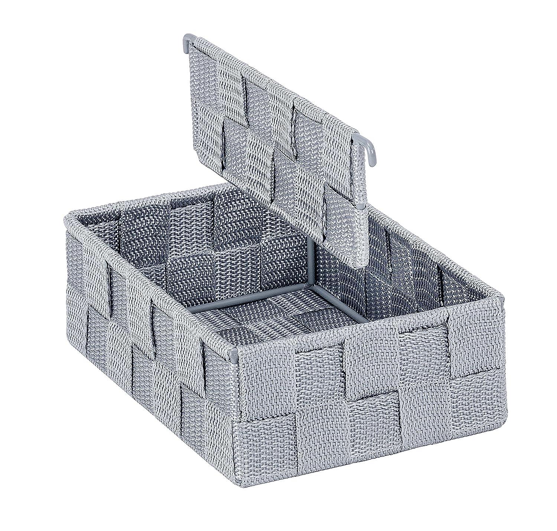 Grau Polypropylen mit variabler Trennwand 13 x 6 x 18 cm WENKO 54030100 K/üchenorganizer Adria S