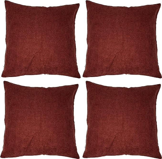 """4 Côté grec clé//bordure blanc et or Décoratif Pillow Throw Cover 18x18"""""""