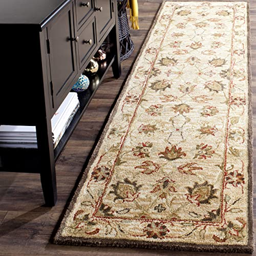 Safavieh Antiquities Collection AT812A Handmade Traditional Oriental Beige and Beige Wool Runner 2 3 x 8